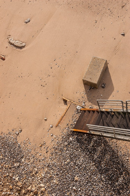 Abstract of steps down to sand and shingle beach, Birling Gap East Sussex near Beachy Head, East Dean eyeteeth.net 2014