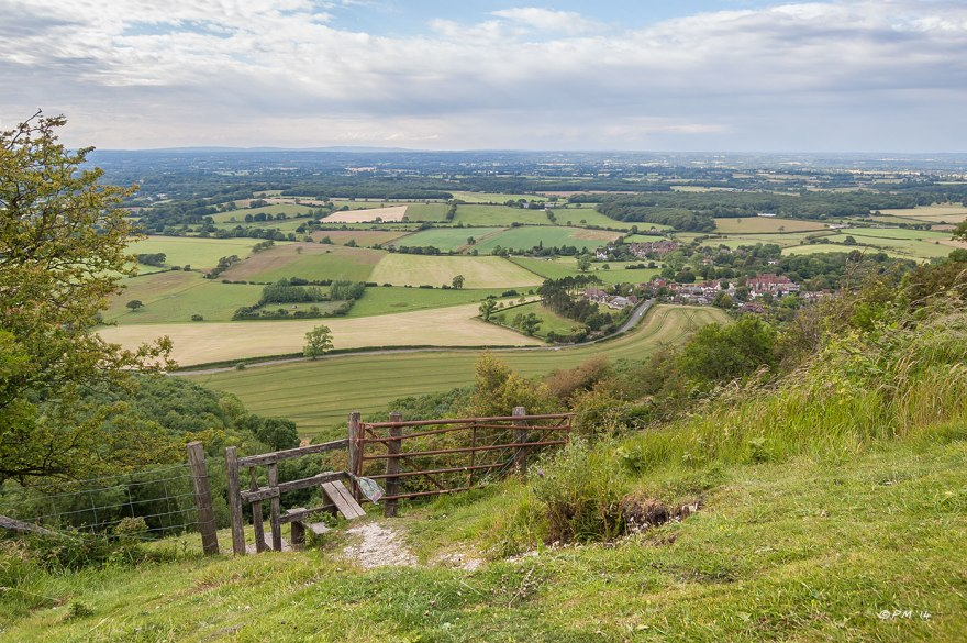 View across Sussex Low Weald and Poynings from Devils Dyke South Downs Country Park P.Maton 30/6/2014 eyeteeth.net