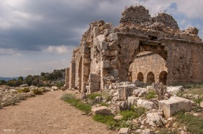 Lycian Bath house. Tlos Fethiye Turkey. Colour landscape. P.Maton 06/09/2014 eyeteeth.net