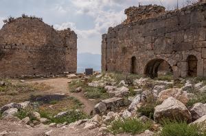 Lycian Bath houses. Tlos Fethiye Turkey. Colour landscape. P.Maton 06/09/2014 eyeteeth.net