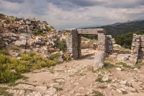 Gateway on Acropolis Hill. Tlos Fethiye Turkey. Colour landscape. P.Maton 06/09/2014 eyeteeth.net
