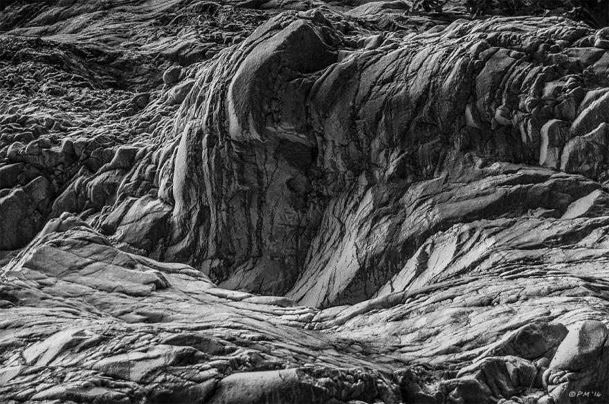 Undulating rock formation in Saklikent Gorge, Turkey. Monochrome abstract. P.Maton 2014 eyeteeth.net