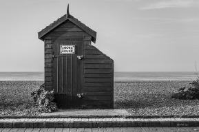 The Smoke House, fish smoking shed on saffron. Monochrome landscape. Brighton East Sussex UK. P.Maton 2014 eyeteeth.net