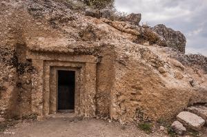 Tomb on Acropolis Hill North Side. Tlos Fethiye Turkey. Colour landscape. P.Maton 06/09/2014 eyeteeth.net