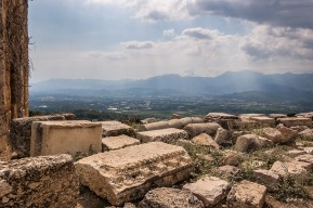 View Souuth over Xanthos Valley from Tlos Fethiye Turkey. Colour landscape. P.Maton 06/09/2014 eyeteeth.net