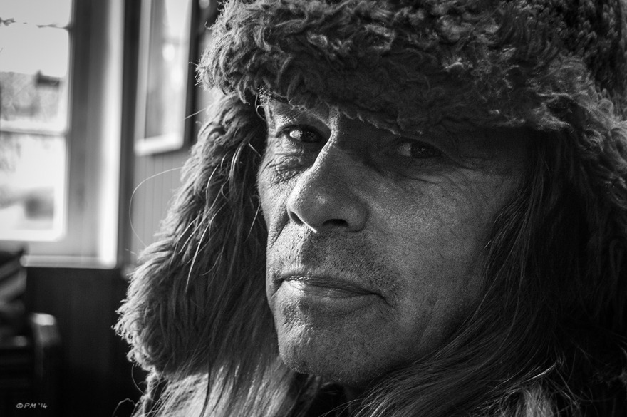 Portrait of James Maton taken at The Old Tom pub  in Oxford UK. Monochrome Landscape. P. Maton 2014 eyeteeth.net