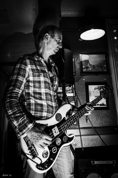 The band Horse Eye Level playing at The Shakespeare's Head Brighton UK 23-05-15. Live Music Photography. Monochrome. © P. Maton 2015 eyeteeth.net